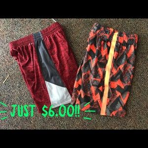 2 pair of knit athletic shorts Youth Small